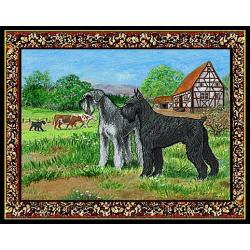 Giant Schnauzer 4 Single Tapestry Placemat