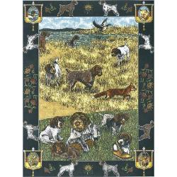 German Wirehaired Pointer Tapestry Blanket Throw #1