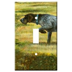 German Wirehair Picture Single Light Switch Plate #1A