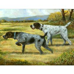 German Wirehair Pointer Tempered Glass Cutting Board #1