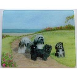 Havanese Glass Cutting Board #1