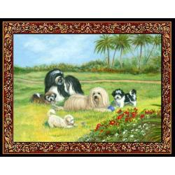 Havanese 2 Single Tapastry Placemat