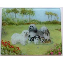 Havanese Glass Cutting Board #4