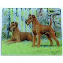 Irish Terrier Tempered Glass Cutting Board #1