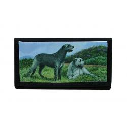 Irish wolfhound checkbook cover 2