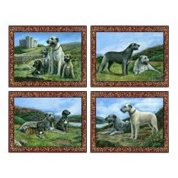 Irish wolfhound placemat set
