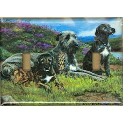 Irish Wolfhound Triple Light Switch Plate #3A