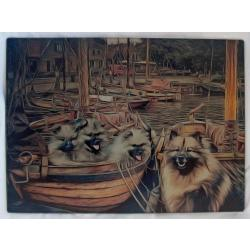 Keeshond cutting board 1