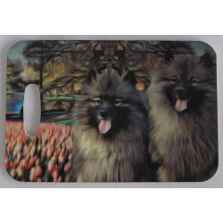 Keeshond luggage tag 2a