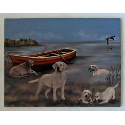Yellow lab picture tile