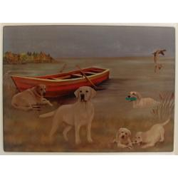 yellow lab cutting board 4