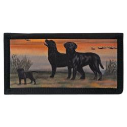 Black Lab 7 checkbook cover