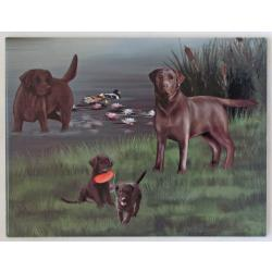 Chocolate lab 8 tile