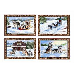 Malamute placemat set