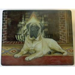 English Mastiff 1 Tempered Glass Cutting Board