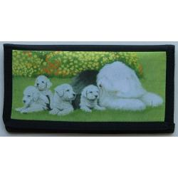 Old English Sheepdog Picture Checkbook Cover #1