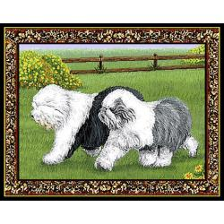 Old English Sheepdog Single Tapestry Placemat #2