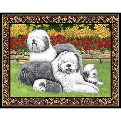 Old English Sheepdog Single Tapestry Placemat #4