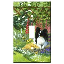 Papillon Picture Single Light Switch Plate #2A