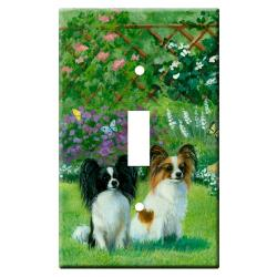 Papillon Picture Single Light Switch Plate #2B