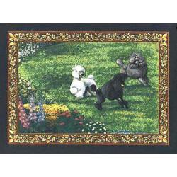 Poodle 1 Single Tapestry Placemat