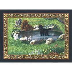 Poodle 2 Single Tapestry Placemat