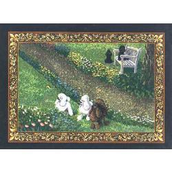 Poodle 3 Single Tapestry Placemat
