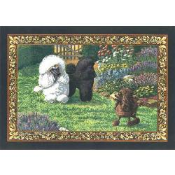 Poodle 4 Single Tapestry Placemat