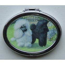 Poodle Picture Oval Compact Mirror #4A