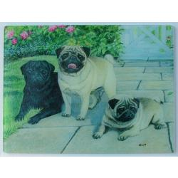 Pug Glass Cutting Board #2