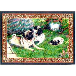 Pug 2 Single Tapestry Placemat