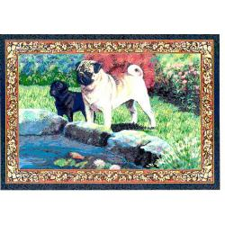 Pug 3 Single Tapestry Placemat