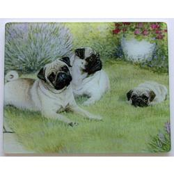 Pug 3 Tempered Glass Cutting Board