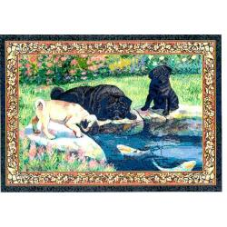 Pug 4 Single Tapestry Placemat