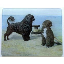 Portuguese Water Dog 1 Tempered Glass Cutting Board