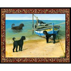 Portuguese Water Dog 2 Single Tapestry Placemat