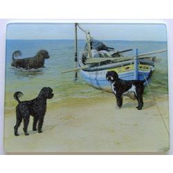 Portuguese Water Dog 2 Tempered Glass Cutting Board
