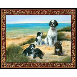 Portuguese Water Dog 3 Single Tapestry Placemat