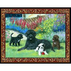 Portuguese Water Dog 4 Single Tapestry Placemat