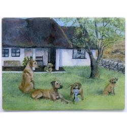 Rhodesian Ridgeback Tempered Glass Cutting Board #1