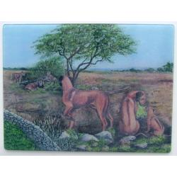 Rhodesian Ridgeback Tempered Glass Cutting Board #2