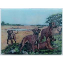 Rhodesian Ridgeback Termpered Glass Cutting Board #3