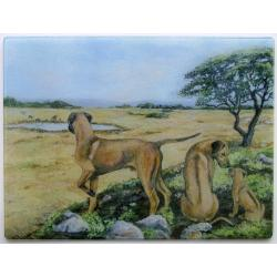 Rhodesian Ridgeback Tempered Glass Cutting Board #6