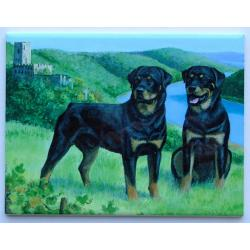 Rottweiler #2 - 6x8 Ceramic Picture Tile