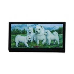 samoyed checkbook cover 3