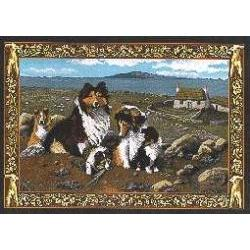 Sheltie 3 Single Tapestry Placemat