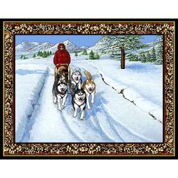 Siberian Husky 2 Single Tapestry Placemat