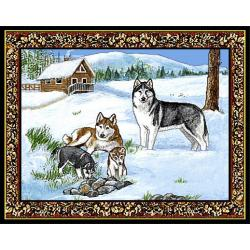 Siberian Husky 4 Single Tapestry Placemat