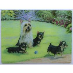Silky Terrier Tempered Glass Cutting Board #3