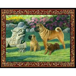 Shar Pei 2 Single Tapestry Placemat